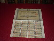 [AUTOMOBILE] ACTION 100 Francs TAXIS CITROEN 1924 TBE
