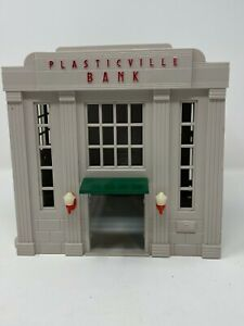 1950s Plasticville Bank with Intact Lights by Bachmann Brothers