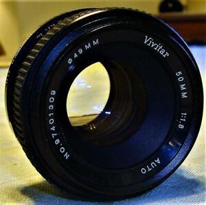 Vivitar 1:1.8 50MM Auto Lens M42 Screw Mount For ASAHI Pentax/Yashica Very Good
