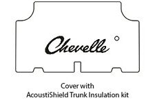 1964 Chevy Chevelle Trunk Rubber Floor Mat Cover with G-015 Chevelle Script