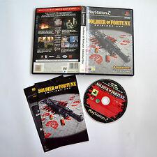 [ PS2 ] Soldier Of Fortune Edizione Oro PAL Usato Con Manuale Buone Condizioni