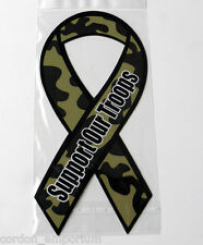 SUPPORT OUR TROOPS CAR OR FRIDGE MAGNET APPROX 8 INCHES