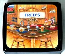 FRED'S BAR NAME SET OF 6 CORK BACKED COASTERS