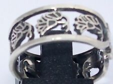 Ancient Egypt Lotus Flower Silver Ring Symbol of Beauty, Grace, Hope, Rebirth