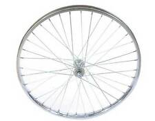 "Bicycle 26"" x 2.125"" Steel Front Wheel 36 Spoke 12g 3/8 Axel Chrome Cruiser Bike"