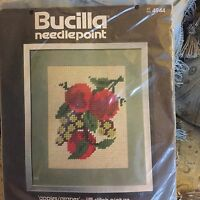 """Bucilla Apples And Grapes Needlepoint Kit 9"""" By 12"""" Unopened #4944 Canvas Jiffy"""