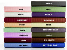 US King Size All Bedding Items 1000 Thread Count Egyptian Cotton Stripe Colors