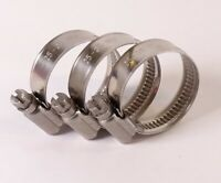 4 x 60mm 63mm W1 Zinc Plated Mild Steel T-Bolt Hose Clamps AutoSiliconeHoses