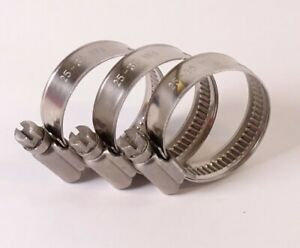 Stainless Steel Hose Clips - Pipe Clamps W4 Jubilee Type Rubber Silicone Engine