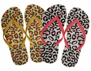 Summer Flip flop , Animal Leopard Print, Ladies, Girls, Women, Various Sizes