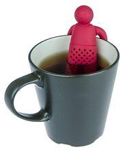 Hoja de silicona Infusor de té suelto de té filtrar el señor Hombre Rojo entrega GRATUITA Reino Unido