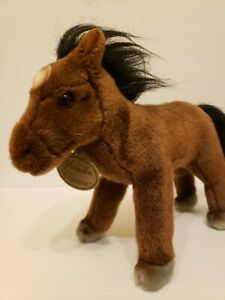 "Yomiko Classics Brown Mustang Horse Soft NEW Plush Animal 12"" NWT"