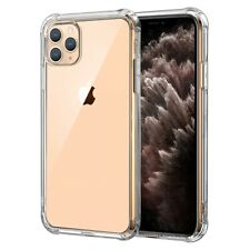 [Against-Yellowing] Clear Slim Silicone Case w/ 4 Airbags for iPhone All Models