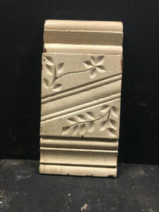 Off White Antique ORNATE Pine Wood Plinth Blocks Door Molding Eastlake Style