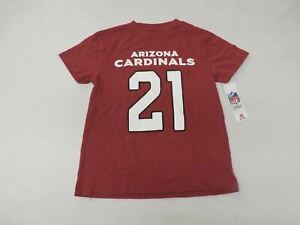 Arizona Cardinals Boy's Short Sleeve Peterson 21 Cardinal Red HM7 Size Small 6/7