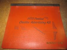1973 Pontiac Factory Advertising Kit RARE Grand Am Trans GTO 455 SD 73 T/A 71 70