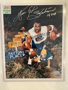 WALTER PAYTON SIGNED AUTOGRAPH 8X10  PHOTO WPF STEINER HOLOGRAMS & COA