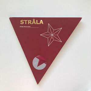 """New Ikea Strala Paper Star Hanging Pendant Lamp Shade 18.8"""" Red Dots No Cord"""