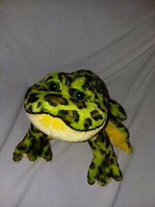 Ganz Webkinz Bull Frog Plush Green Spotted Sitting Stuffed Animal Soft Toy