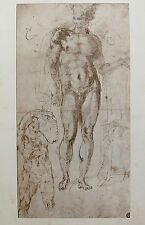 "MICHELANGELO 1970 Lithograph ""Studio Per Un Mercurio-Apollo"""