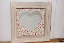 Vintage Chic Floral Rustic Hanging Heart Mirror