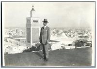 Egypte, Panorama d'une ville d'Egypte  Vintage silver print.  Tirage