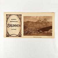 1920s Brunnen Switzerland Vintage Travel Brochure Lake Lucerne Swiss Vacation