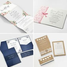 Personalised Wedding Invitations Invites RSVP Cards Day/Evening - FREE Envelopes