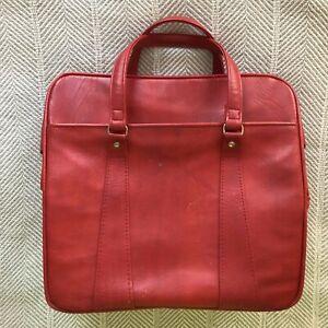 Vintage Samsonite Luggage Bright Red Royal Traveler Medalist Bag Weekender EUC