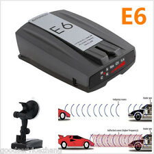 E6 360° Car Speed Laser Police Dog Radar Detector GPS Voice Alert Safety
