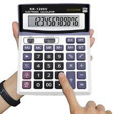 12 Digit Desk Calculator Jumbo Large Buttons Solar Desktop Battery Shop School