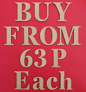 Wooden Letters Large MDF Georgia Font 3-30cm (3mm Thick) Signs Art Craft Decor