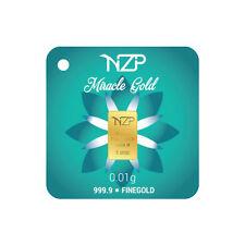 Goldbarren 0,01 Gramm NZP Gold (999,9 Gold Barren 0,01g 0,01g)NEU