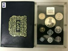 India Republic Bombay Mint 9 Coins PROOF Set 1973 with Box & COA  B10