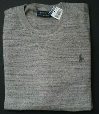 New Polo Ralph Lauren 100% Cotton Pony Grey Crewneck Sweater XXL