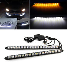 2x Flexible Car LED DRL Driving Light Turn Signal Switchback Headlight Fog Lamp