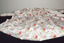 """Vintage French Cabbage Rose Design 220 Thread Count 100% Cotton 60"""" Fabric  BTY"""