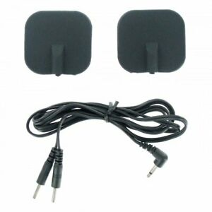 Zeus Deluxe Silicone Black Electro Pads Electrosex Stimulation Sex Toy