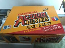 1984 DONRUSS ACTION ALL STAR WAX BOX ~ RARE TED WILLIAMS PUZZLE! 36 PACKS