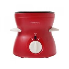Francfranc Electric Chocolate & Cheese Fondue Red Cooking Tool 100V 15W