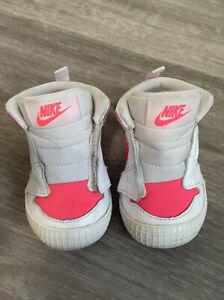 Nike Air Jordan 1 Crib Shoes Sneakers Unisex White/Pink Racer AT3745-116 Size 4C