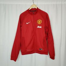 Nike Manchester United Jacket Red Size Small Aon Track Dri Fit Zip Up Football