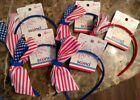 2 Scunci Stars & Stripes Girl's Headband 4th of July Patriotic USA NEICE GRNDKID