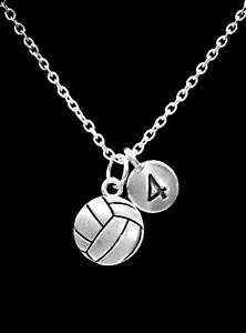 Volleyball Necklace Number Sports Christmas Gift Charm Jewelry
