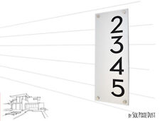 Modern House Numbers, Alucobond with Black Acrylic - Vertical 2 - Contemporary H
