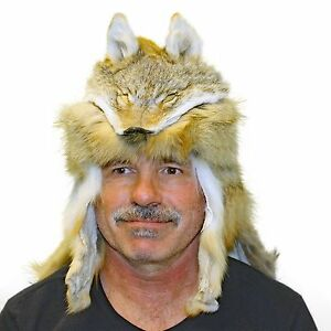 Glacier Wear Coyote Mountain Man Hat with Cape hts1655