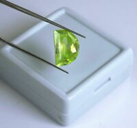 EPIC GEMS- 10 Ct Natural Certified Green Sphene Titanite Gemstone-Half Moon Cut