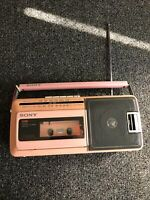 Vintage Sony Fm/Am Radio Cassette-Corder Missing Power Cord Unable To Test