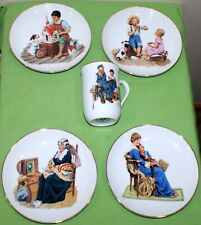 Norman Rockwell Vintage Collector Plates 1986 (Set of 4)& 1 cup/mug 1982