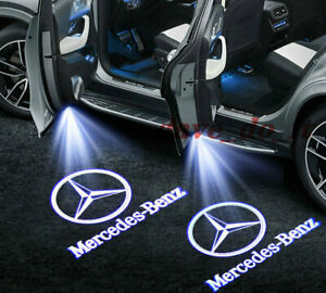 2x Mercedes BENZ WELCOME PROJECTOR DOOR LED LIGHTS PUDDLE GHOST LASER COURTESY